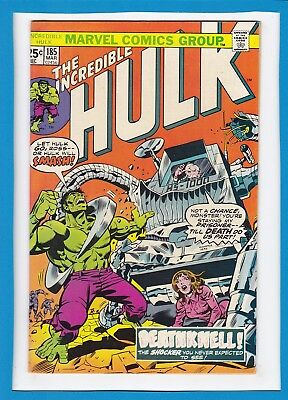 "Incredible Hulk #185_March 1974_Very Good+_""deathknell""_Bronze Age Marvel!"