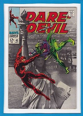 """Daredevil #45_October 1968_Very Fine_The Jester_""""the Dismal Dregs Of Defeat!"""