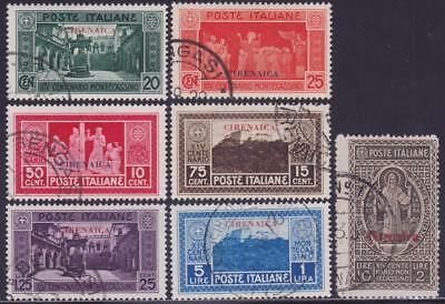 ITALIAN COLONIES CYRENAICA 1929 Montecassino set 7v Used B14297
