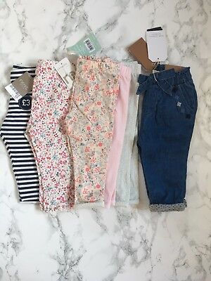 Bundle Of Girls Trousers Zara, Next, Morhercare & Boots Size 6-9 Months. New!