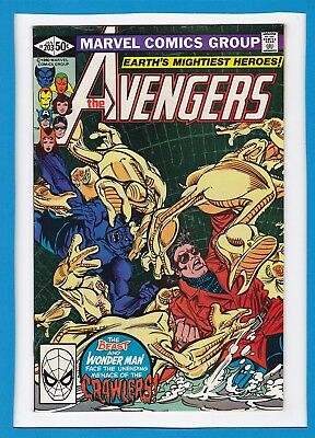 "Avengers #203_January 1981_Nm-_Jocasta_Beast_Wonder Man_""night Of The Crawlers""!"