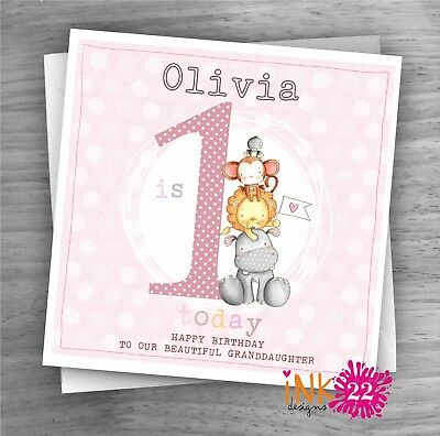 Personalised Handmade Card Baby 1st First Birthday Daughter