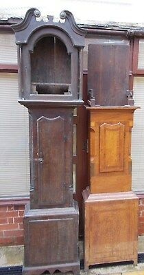 Antique Longcase / Grandfather Clock Case x 2 - For Spares Or Repair