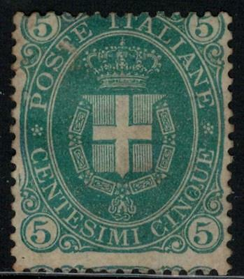 ITALY 1889 Coat of Arms 5c MH / B13876