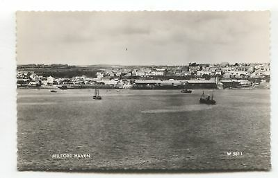 Milford Haven, Pembrokeshire - general view - c1960 real photo postcard