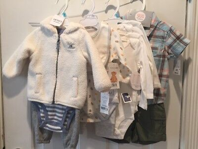 Baby Boy Clothing Lot 3-6 Months 9 Months Sleepers Holiday Brand New With Tags!
