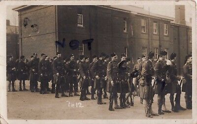 WW1 14th London Regiment London Scottish on parade at Aldershot 1910