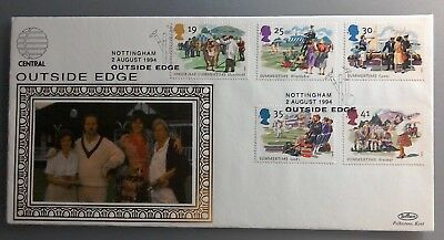 1994 Benham Silk Fdc - Summertime Stamps - Central Tv Outside Edge Nottingham