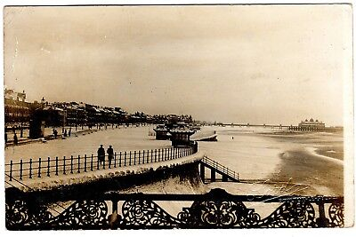 Rare Animated Real Photo Postcard Snow On The Promenade And Sands-Blackpool 1906