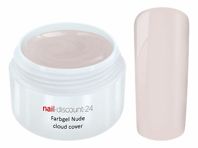UV Farb Gel NUDE CLOUD COVER Color Farb French Modellage Nail Art Design Nagel