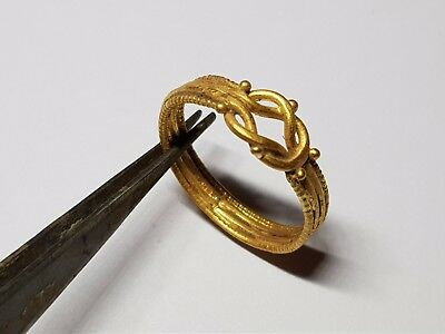 Ancient Greek Gold Ring with Hercules Love Knot 2nd Century AD- 1st Century BC