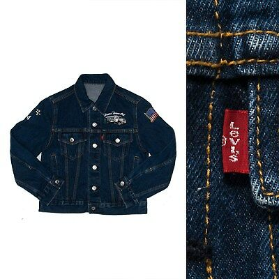 Kids / Boys / Youths Vintage Levis Denim Jacket Trucking Rockabilly 8 -10 Years