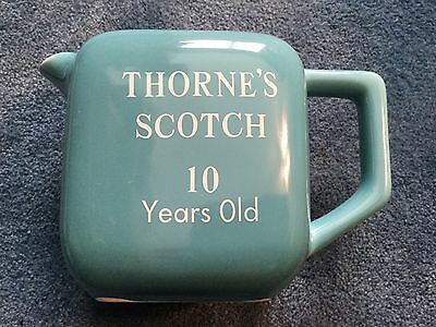 Thorne's Scotch turquoise advertising water pitcher