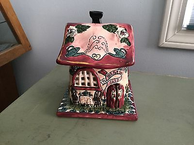 """Blue Sky Heather Goldminc 2001 """"Tea for Two Cafe""""  house with tile"""