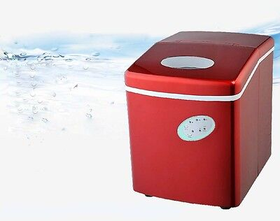 20KG/Day New Red Commercial Coffee Ice Maker Home Portable Automatic Quick &