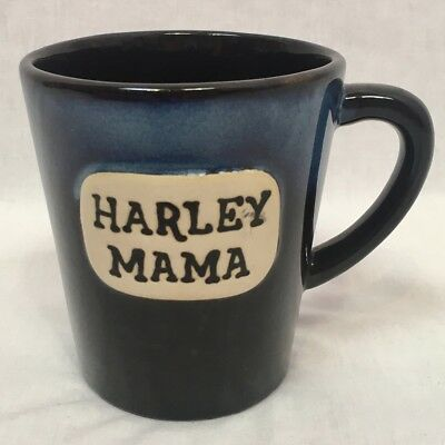 "Ganz ""Harley Mama"" Black and Blue Pottery Mug"