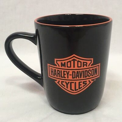 Harley Davidson Black Mug w/ Orange Logo and Eagle