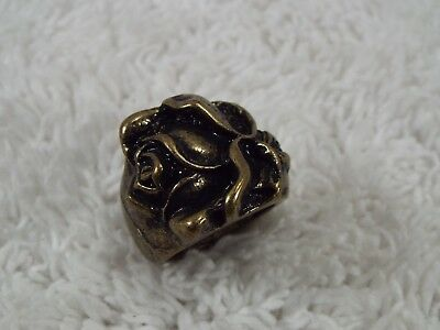 Brass Rose Ring ~ Size 6 (C4)