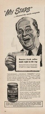 1945 Nestles Instant Coffee Nescafe My Stars Movie Magnate Cinema Tycoon Ad