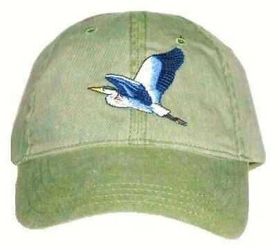 Great Blue Heron Embroidered Cotton Cap NEW Bird Hat