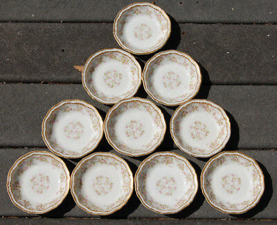 Set Of 10 Antique Theodore Haviland Limoges France 5 Inch Bowls Double Gold!!!!
