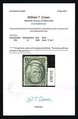 CKStamps: US Stamps Collection Scott#85B 2c Jackson Used with Cert CV$1200