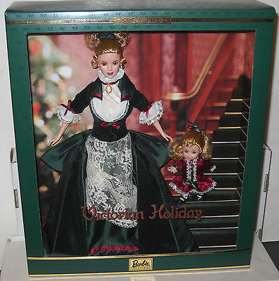 #7150 NRFB Mattel Victorian Holiday Barbie & Kelly Giftset