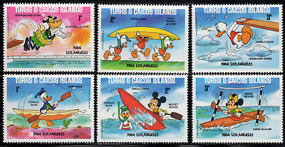 Turks-Caicos Islands Sc# 619-24 Disney - 1984 Olympics (1984) SCV $1.50  Read