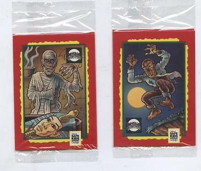 Universal Monsters Trading Card Treats Rare Haloween 2 pack set Frankenstein