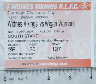 2007 ticket Widnes Vikings v. Wigan Warriors, Challenge cup