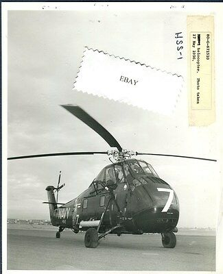 HS-2 GOLDEN FALCONS SIKORSKY H-34 HSS-1 OFFICIAL US NAVY Helo Squadron Photo
