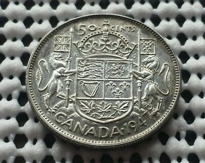 1947 ❀ King George VI ❀ Silver 50 Cents Half Dollar Canada