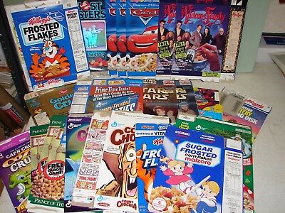 24 - Flat Cereal Boxes (no cereal) - Great Variety - Count Chocula, Star Wars.