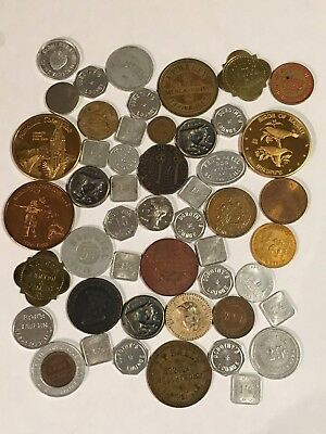 Lot Of 50 Various Tokens - Good For, Advertising, Trade, Good Luck Etc...