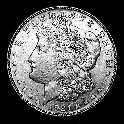 1921 S ~**ABOUT UNCIRCULATED AU**~ Silver Morgan Dollar Rare US Old Coin! #576
