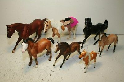 Breyer Traditional Lot With 959 Monte, Gem Twist, Clydesdale Foal, And Pinto