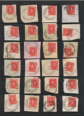 Selection Of N.s.w. Postmarks On Pre-Decimal Stamps Inc. Willson's Downfall.