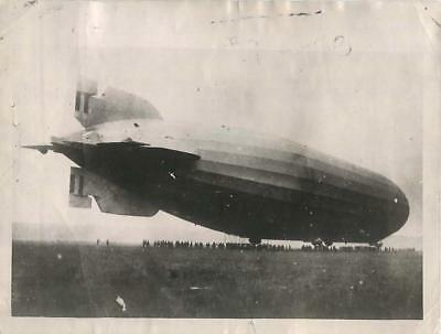 1921 Ill-Fated Airship R38 Prepares to Leave Howden on Final Flight Press Photo