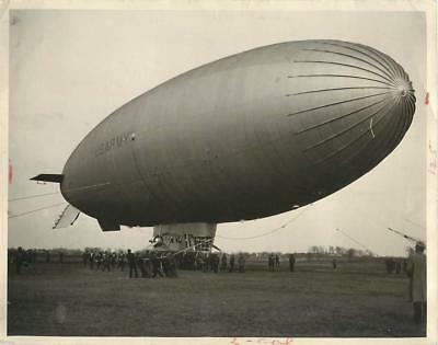 1933 U.S. Army Blimp TC-13 at Akron Airport before First Test Flight Press Photo
