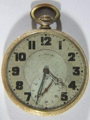 1924 14K GF Gold Filled Illinois AUTOCRAT 17J Adjusted POCKET WATCH TBR