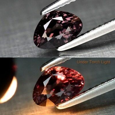 1.05ct 6.9x4.7mm Pear Natural Unheated Color Change Garnet, Africa