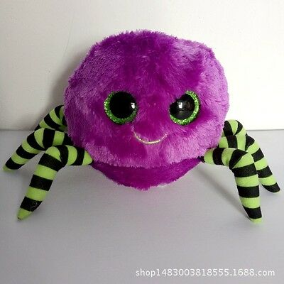 "6"" TY Beanie Boos Scary spider Plush Stuffed Toys Glitter Eyes"