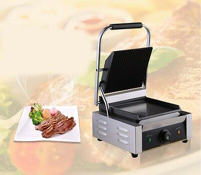 New Commercial Stainless Steel Stripes Hot Plate BBQ Pressplate Electric Grill *