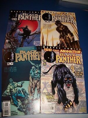 Black Panther #36,37,38,43 Comic Books 1 lot of 4 VF to NM Luke Cage New Movie!