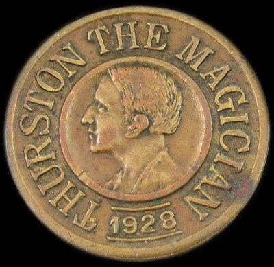1928 Howard Thurston the Great Magician Coin - Good Luck Token