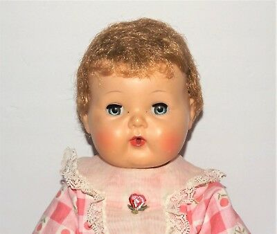 VINTAGE 1950s AMERICAN CHARACTER Rock-a-Bye Eyes Rooted Wig Cap TINY TEARS DOLL