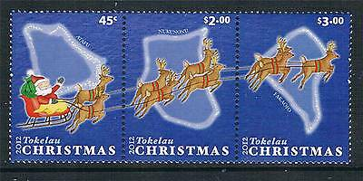 Tokelau 2012 Christmas 3v strip MNH