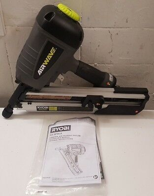 Ryobi Airwave Clipped Head Air / Pneumatic Framing Nailer Ra-Nf90-K W/ Manual