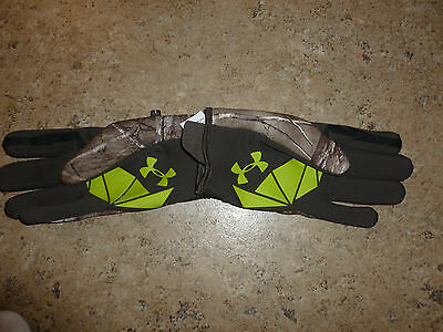 New Men's Large Under Armour Infrared Speed Freek Gloves 1259226 Realtree AP