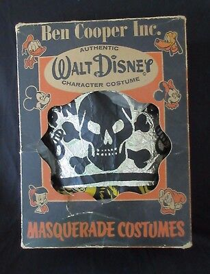 "Rare Old Vintage Ben Cooper Walt  Disney ""Captain Hook"" Costume in Original Box"